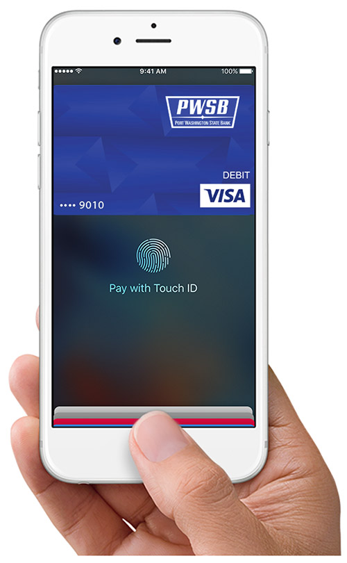 photo of iPhone with Apple Pay screen